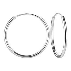 Wholesale 25mm Sterling Silver Ear Hoops - JD4472