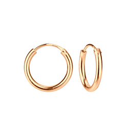 Wholesale 16mm Sterling Silver Thick Ear Hoops - JD3748