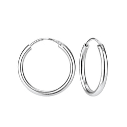 Wholesale 20mm Sterling Silver Thick Ear Hoops - JD4479