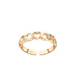 Wholesale Sterling Silver Heart Toe Ring - JD5511