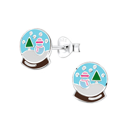 Wholesale Sterling Silver Snow Ball Ear Studs - JD8423