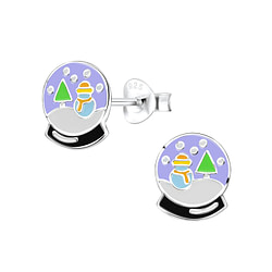 Wholesale Sterling Silver Snow Ball Ear Studs - JD8424