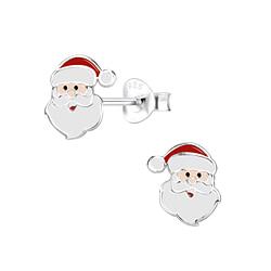 Wholesale Sterling Silver Santa Claus Ear Studs - JD8436