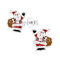 Wholesale Sterling Silver Santa Claus Ear Studs - JD8437