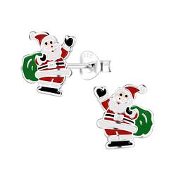 Wholesale Sterling Silver Santa Claus Ear Studs - JD8438
