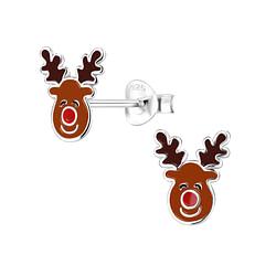 Wholesale Sterling Silver Reindeer Ear Studs - JD8364
