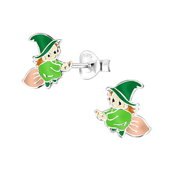 Wholesale Sterling Silver Witch Ear Studs - JD8321