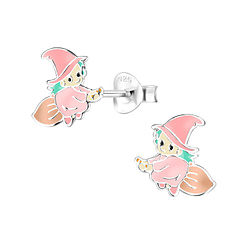 Wholesale Sterling Silver Witch Ear Studs - JD8323
