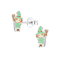Wholesale Sterling Silver Witch Ear Studs - JD8328
