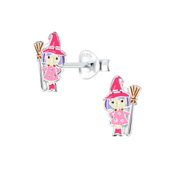 Wholesale Sterling Silver Witch Ear Studs - JD8329