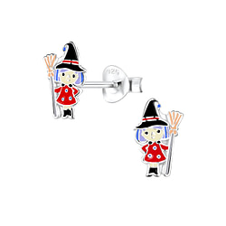 Wholesale Sterling Silver Witch Ear Studs - JD8327