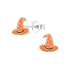Wholesale Sterling Silver Witch Hat Ear Studs - JD8331