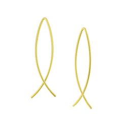 Wholesale Sterling Silver Wire Earrings - JD4819