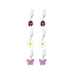 Wholesale Sterling Silver Garden Lever Back Earrings Set - JD8395