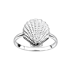 Wholesale Sterling Silver Shell Ring - JD8347