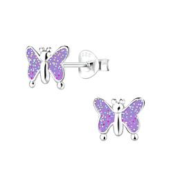 Wholesale Sterling Silver Butterfly Ear Studs - JD7619