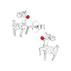 Wholesale Sterling Silver Reindeer Ear Studs - JD8461