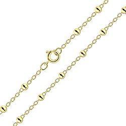 Wholesale 45cm Sterling Silver Satellite Necklace - JD8472