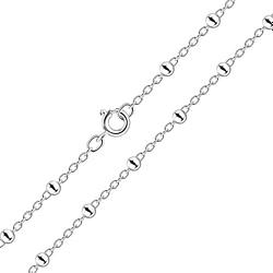 Wholesale 41cm Sterling Silver Satellite Necklace - JD8466