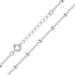 Wholesale 45cm Sterling Silver Extension Satellite Necklace - JD8465