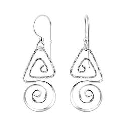 Wholesale Sterling Silver Spiral Earrings - JD8522