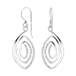 Wholesale Sterling Silver Spiral Earrings - JD8543