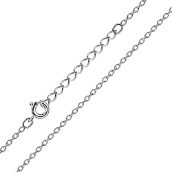 Wholesale 41cm Sterling Silver Extendable Cable Chain - JD8666