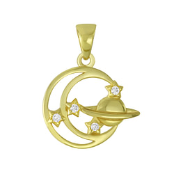 Wholesale Sterling Silver Planet Pendant - JD6403