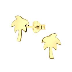 Wholesale Sterling Silver Palm Tree Ear Studs - JD8741