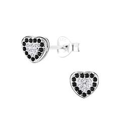 Wholesale Sterling Silver Heart Ear Studs - JD8714