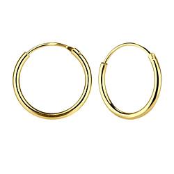 Wholesale 16mm Sterling Silver Ear Hoops - JD7481