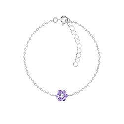 Wholesale Sterling Silver Flower Bracelet - JD7325
