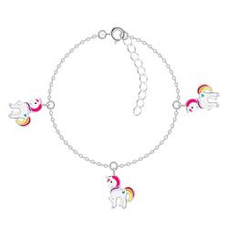 Wholesale Sterling Silver Unicorn Bracelet - JD8784