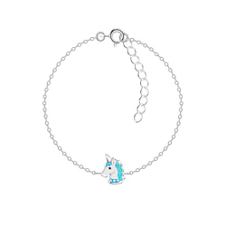 Wholesale Sterling Silver Unicorn Bracelet - JD6713