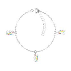 Wholesale Sterling Silver Unicorn Bracelet - JD7538