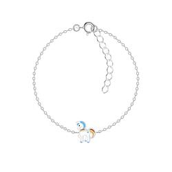 Wholesale Sterling Silver Unicorn Bracelet - JD8785