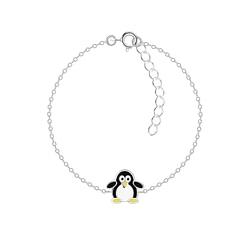 Wholesale Sterling Silver Penguin Bracelet - JD7373