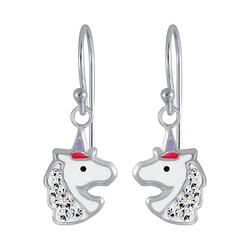 Wholesale Sterling Silver Unicorn Earrings - JD4018