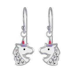 Wholesale Sterling Silver Unicorn Earrings - JD3956