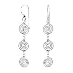 Wholesale Sterling Silver Spiral Earrings - JD7080
