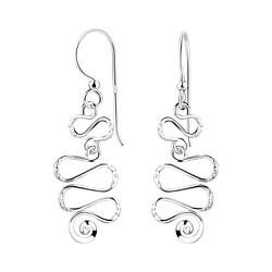 Wholesale Sterling Silver Spiral Earrings - JD7083