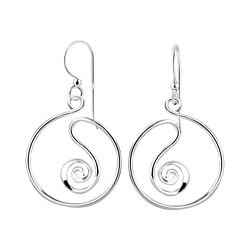 Wholesale Sterling Silver Spiral Earrings - JD8510