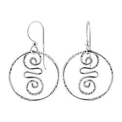 Wholesale Sterling Silver Spiral Earrings - JD8512