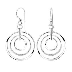Wholesale Sterling Silver Circles Earrings - JD8542