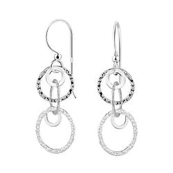 Wholesale Sterling Silver Circle Earrings - JD8541