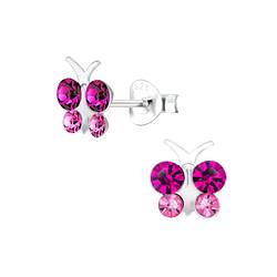 Wholesale Sterling Silver Butterfly Ear Studs - JD8269