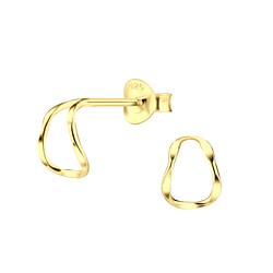 Wholesale Sterling Silver Half Hoop Ear Studs - JD8469