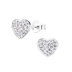 Wholesale Sterling Silver Heart Ear Studs - JD8927