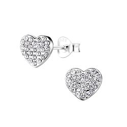 Wholesale Sterling Silver Heart Ear Studs - JD8926
