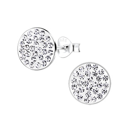 Wholesale Sterling Silver Round Ear Studs - JD8903